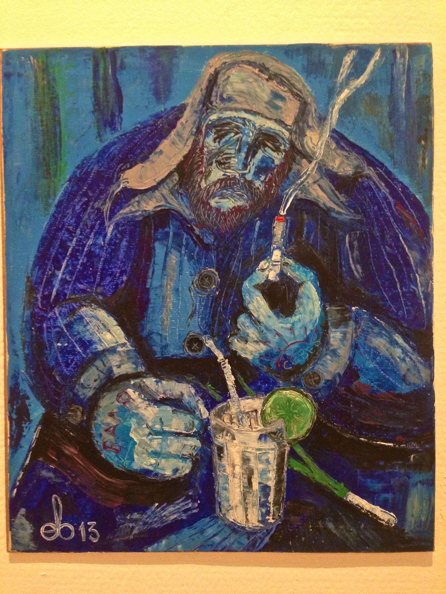 «BAR» в деревне Мохитовка». 2013 г., бумага, масло. С. Евдокимов.